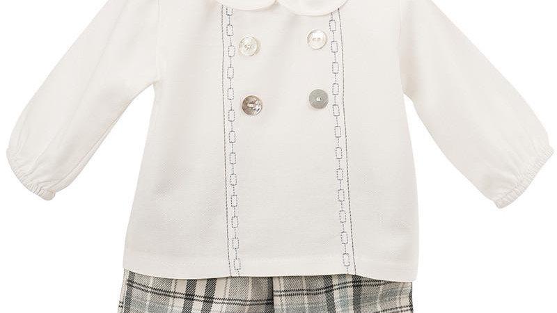 Checked Shorts & Shirt Set