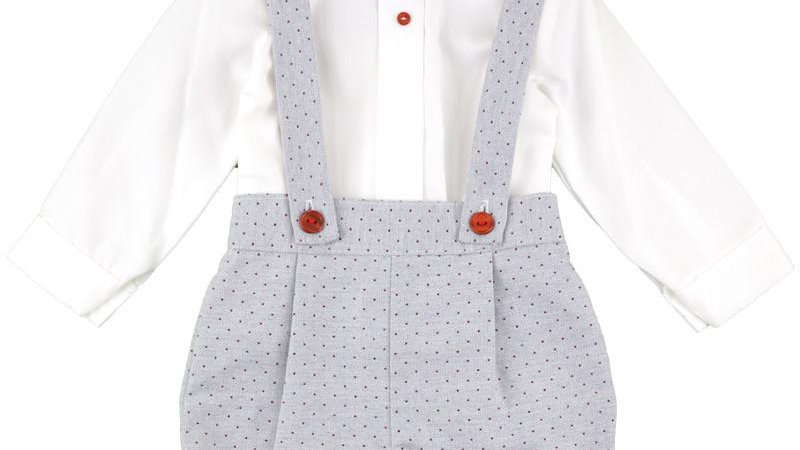 Grey dotted Harry Dungaree