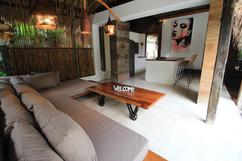 Lounge private villa La Cabane