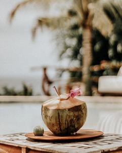 Fresh coconut at La Cabane Bali