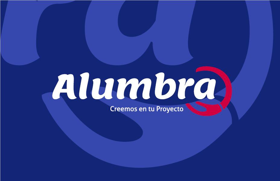 ALumbra Logo Fondo Azul
