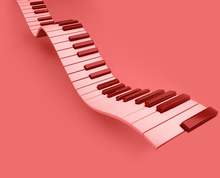#vempramh, aulas de teclado, teclado 3d, ilustração rock and roll