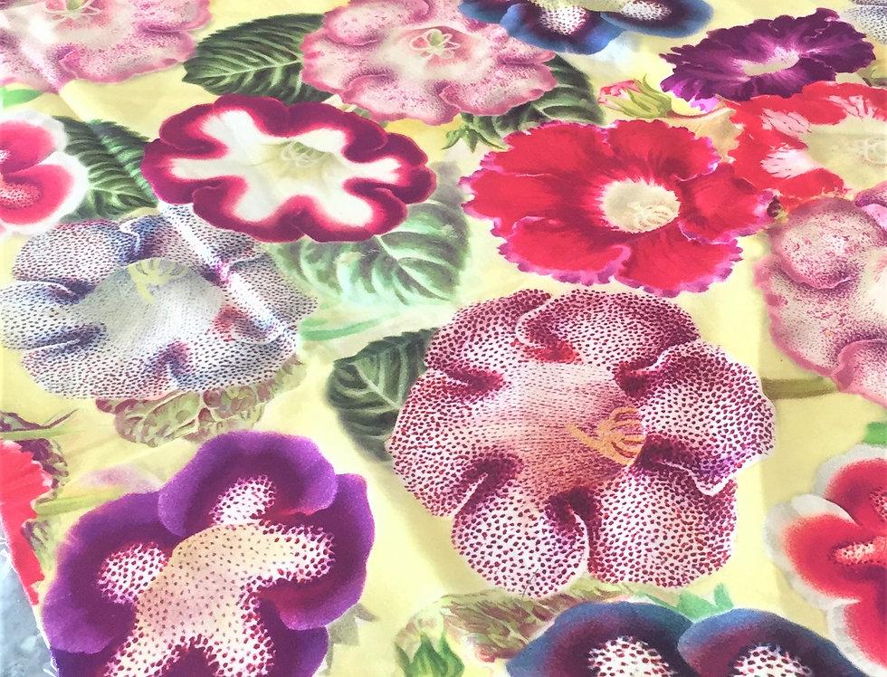 John Derian Varietes de Gloxinia fabric for the Designers Guild
