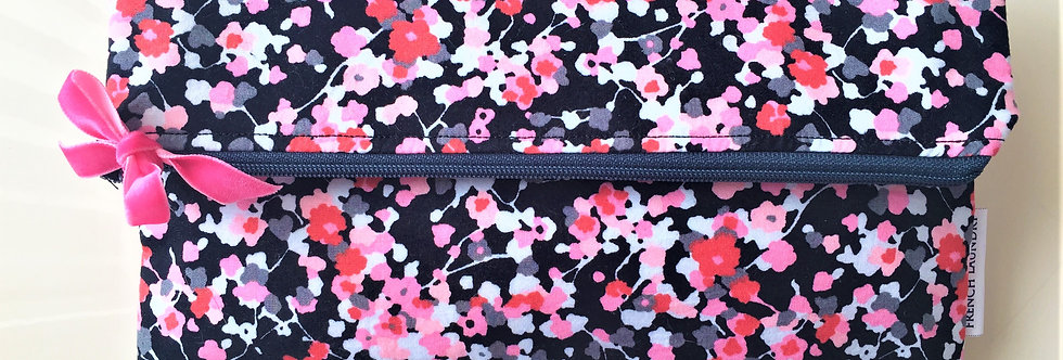 Large bright floral pochette