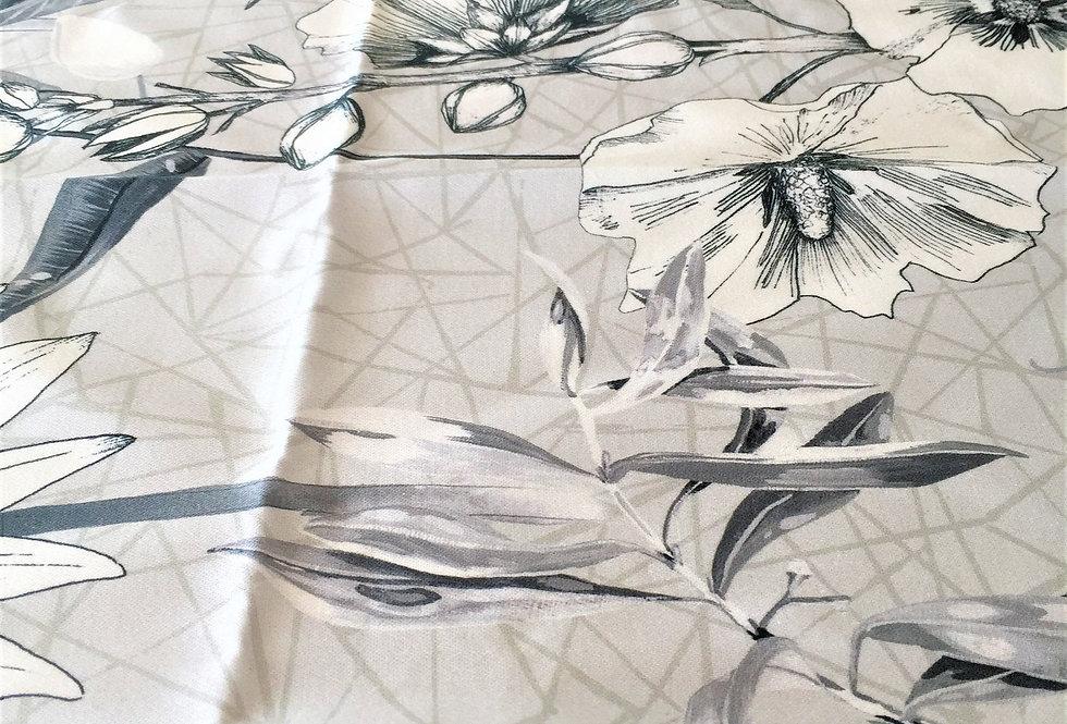 Lovely platinum Emilie floral fabric by Designers Guild