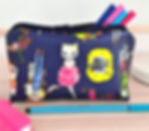 Cat pencil case, cosmetic bag, washbag, cat lover