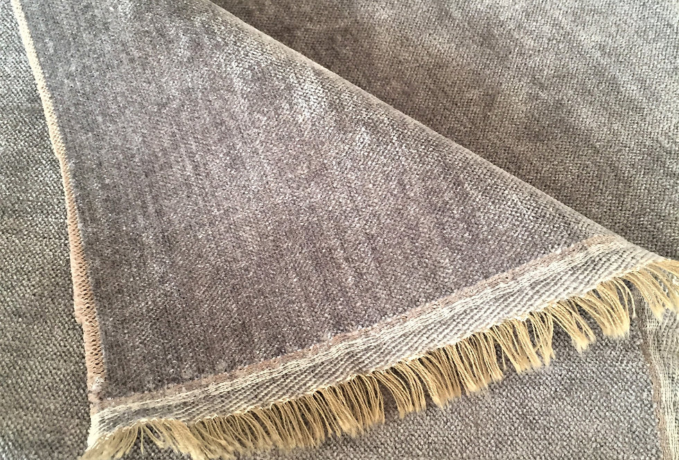 Designers Guild Grey Chenille Fabric