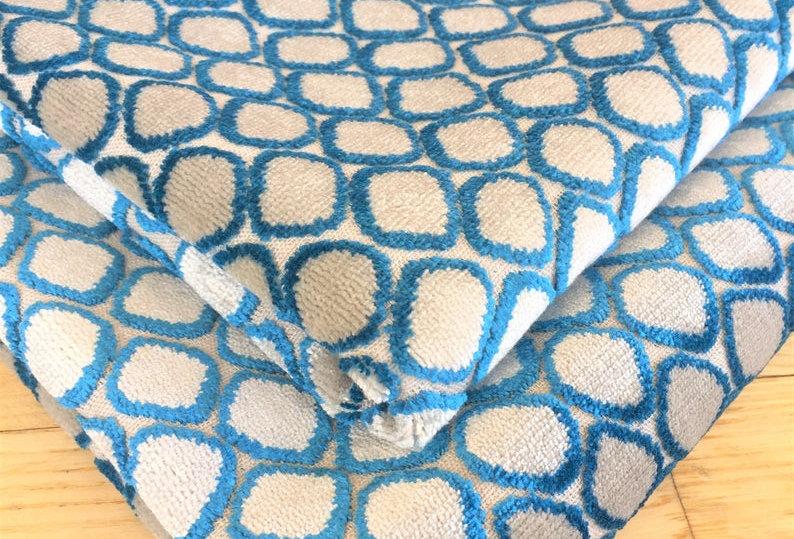 William Yeoward Fenelle Peacock Velvet Fabric