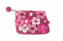 felt floral pouch, affordable purse, girl present