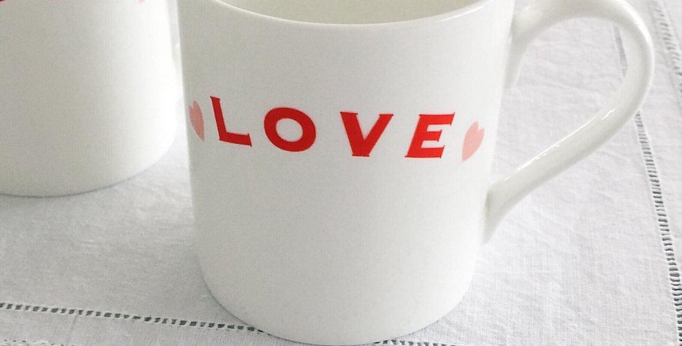 Love mugs fine bone china