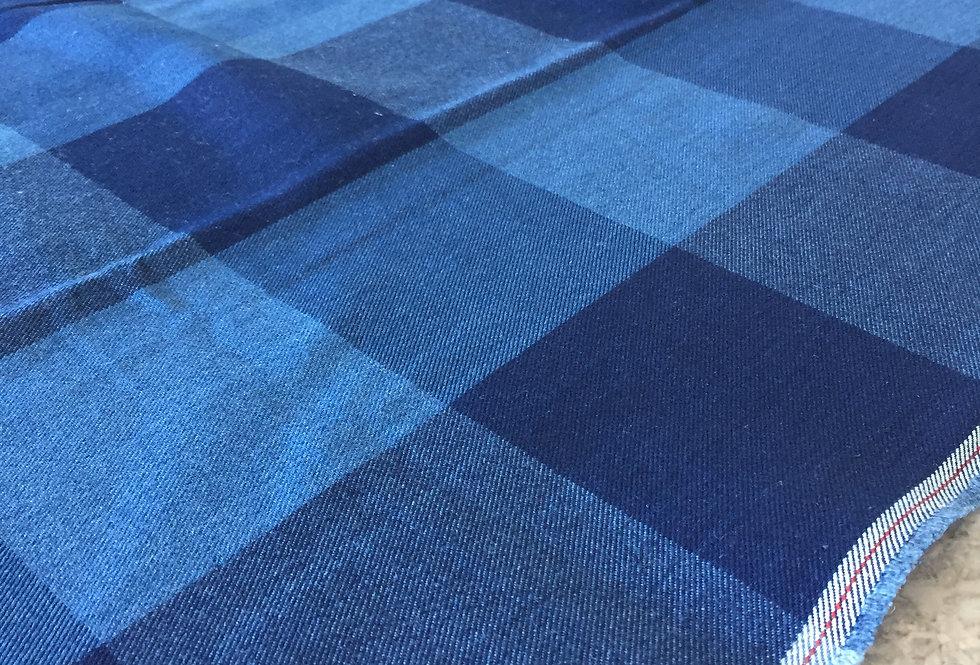 Ian Mankin Blue Large Gingham Fabric