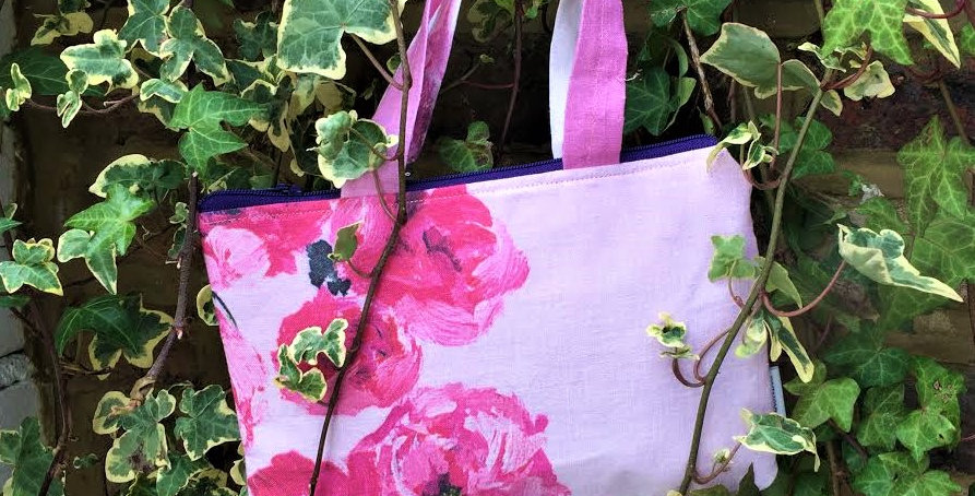 Mini floral tote - Designer's Guild fabric
