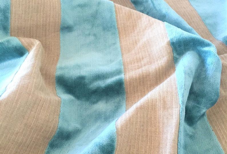 Luxurious designer velvet striped fabric