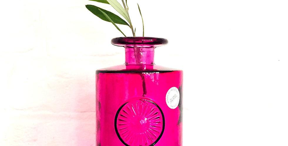 """Bright pink """"Rosace"""" design vase"""