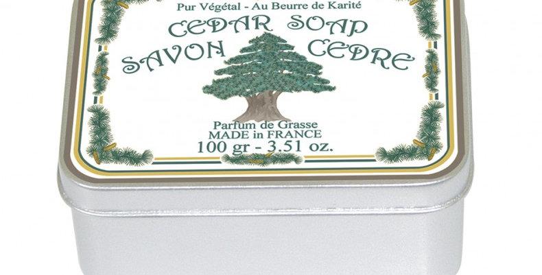 CEDAR - Soap in tin box