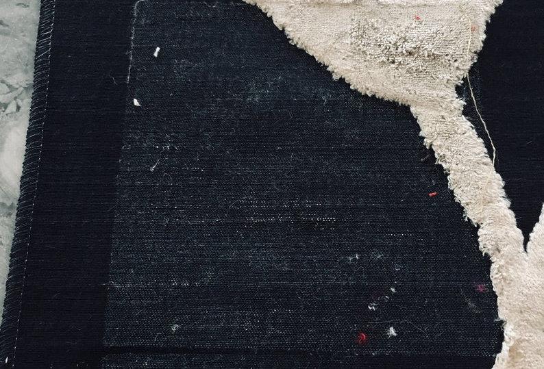 Ian Sanderson Ivory Floral Velvet on Black Background