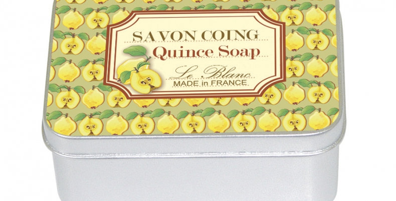 QUINCE - Soap in tin box