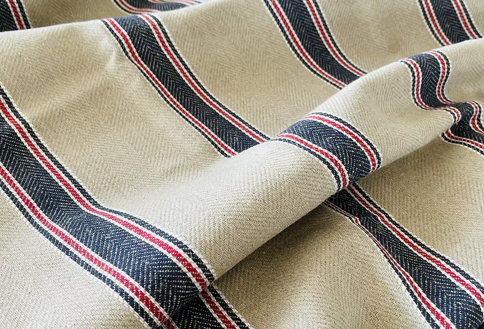 Ian Mankin Moffat Stripe Linen Fabric