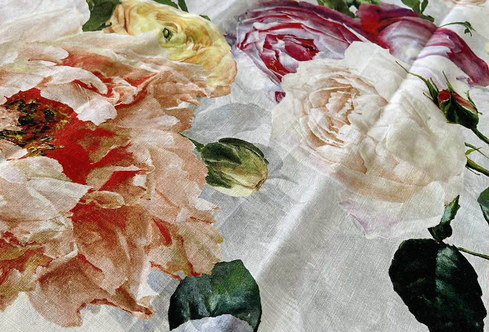 Designers Guild Tourangelle Peony Linen Fabric