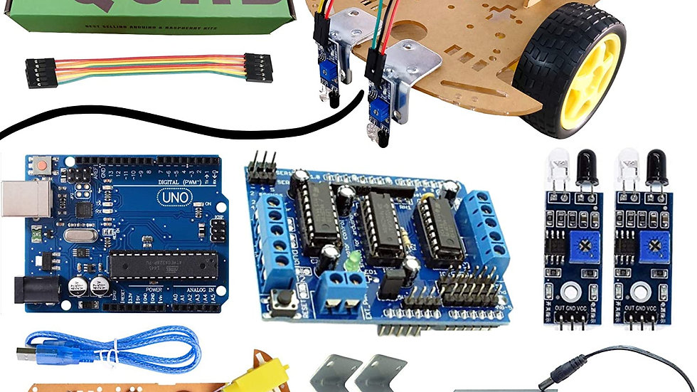 Arduino UNO DIY line follower kit