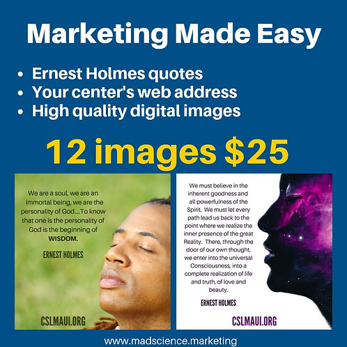 Social Graphics: 12 Ernest Holmes Quotes