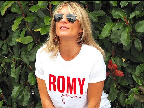 TEE-SHIRT ROMY FOREVER BLANC/ROUGE