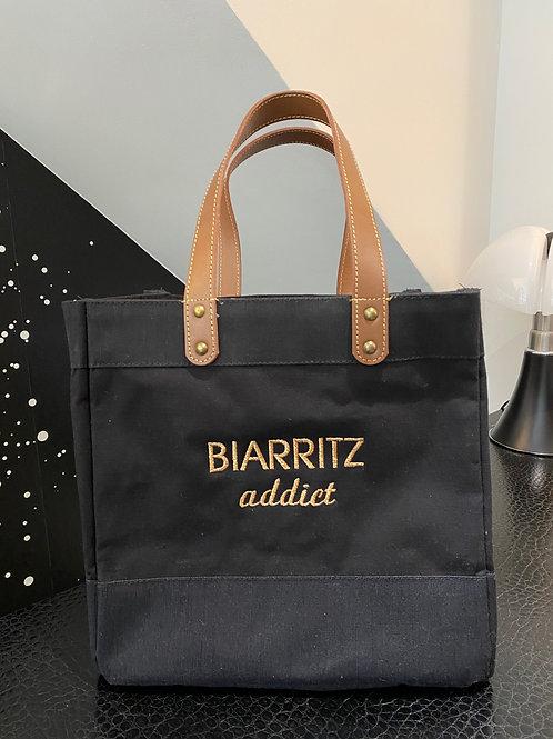 CABAS BIARRITZ ADDICT LITTLE BLACK DE MADEMOISELLE FANI