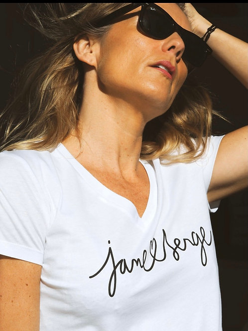 TEE-SHIRT JANE ET SERGE BLANC COLLABORATION AU DRESSING