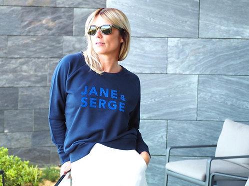 SWEAT LOOSE JANE ET SERGE NAVY/VELOURS BLEU