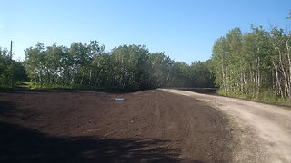 Topsoil grading and leveling