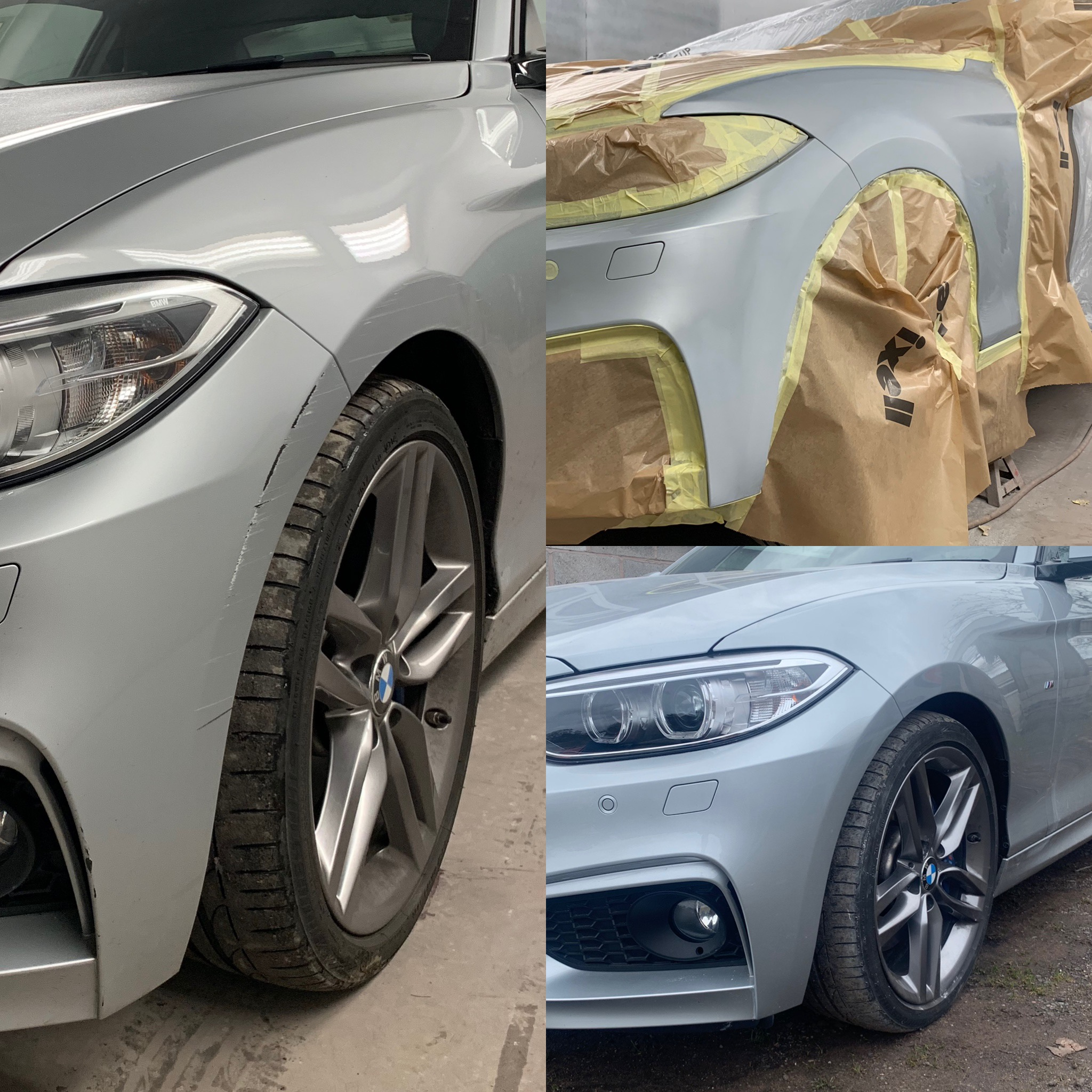 BMW F. Bumper Scuff Repair