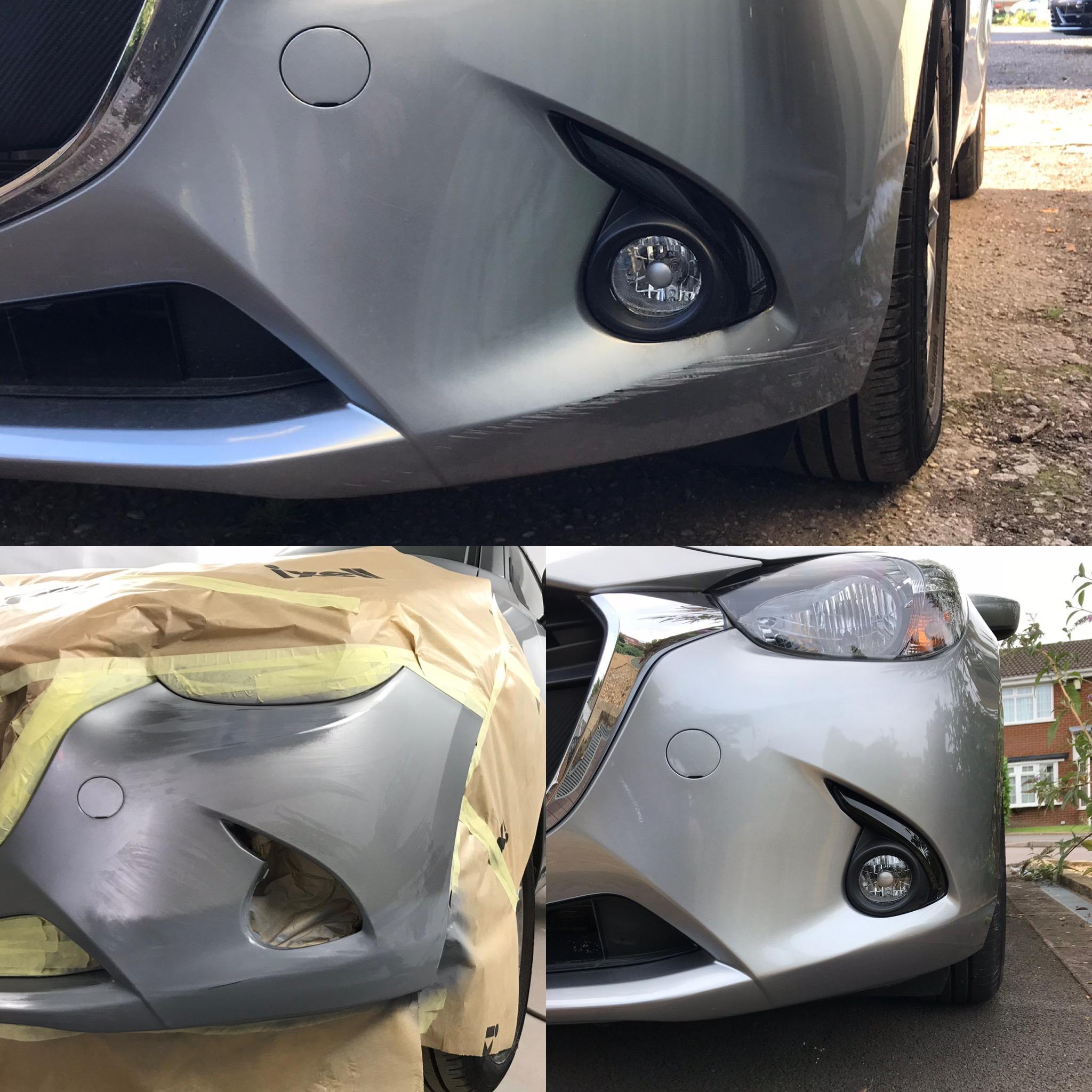 Mazda 2 F. Bumper Scuff Repair