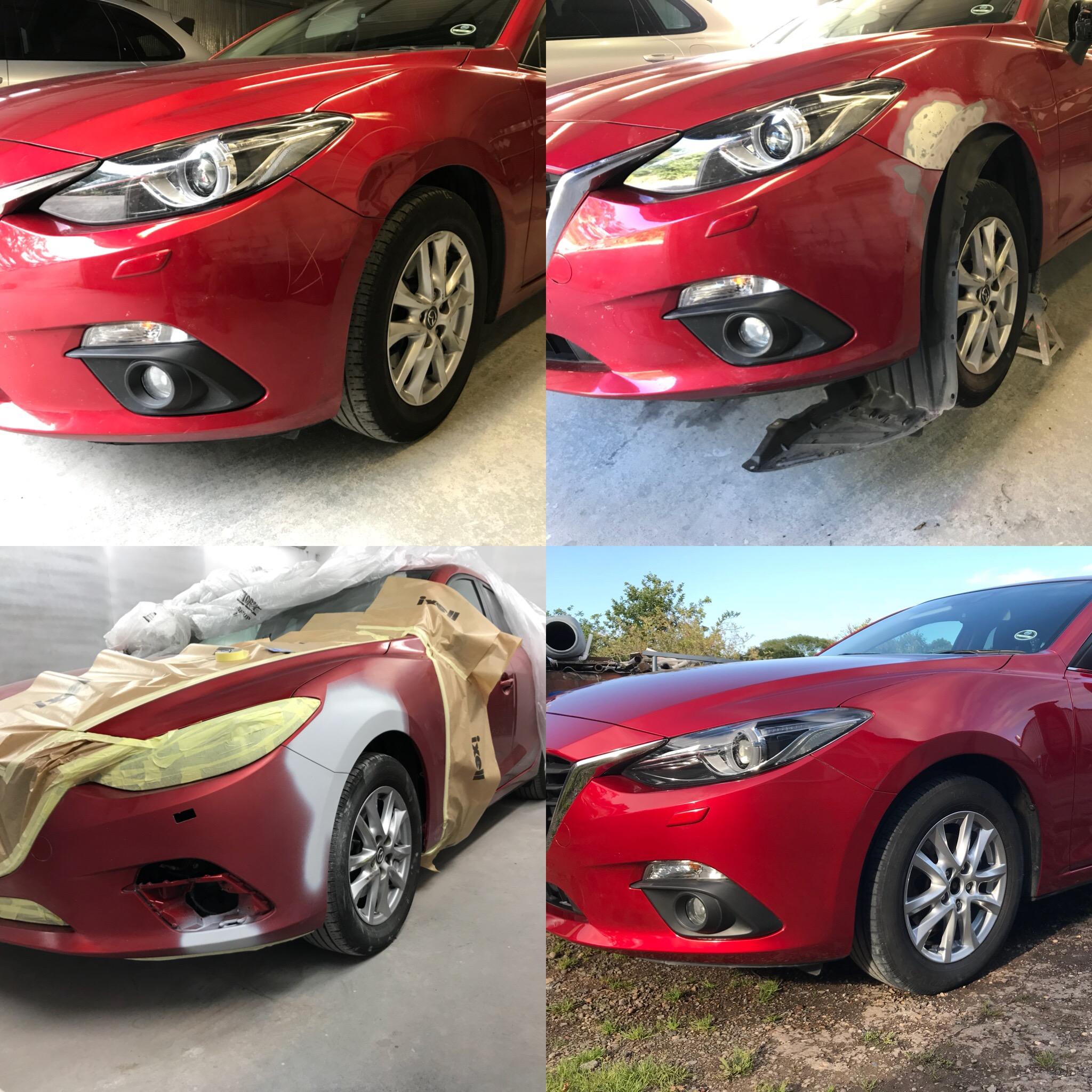 Mazda 3 F. Wing Dent Repair