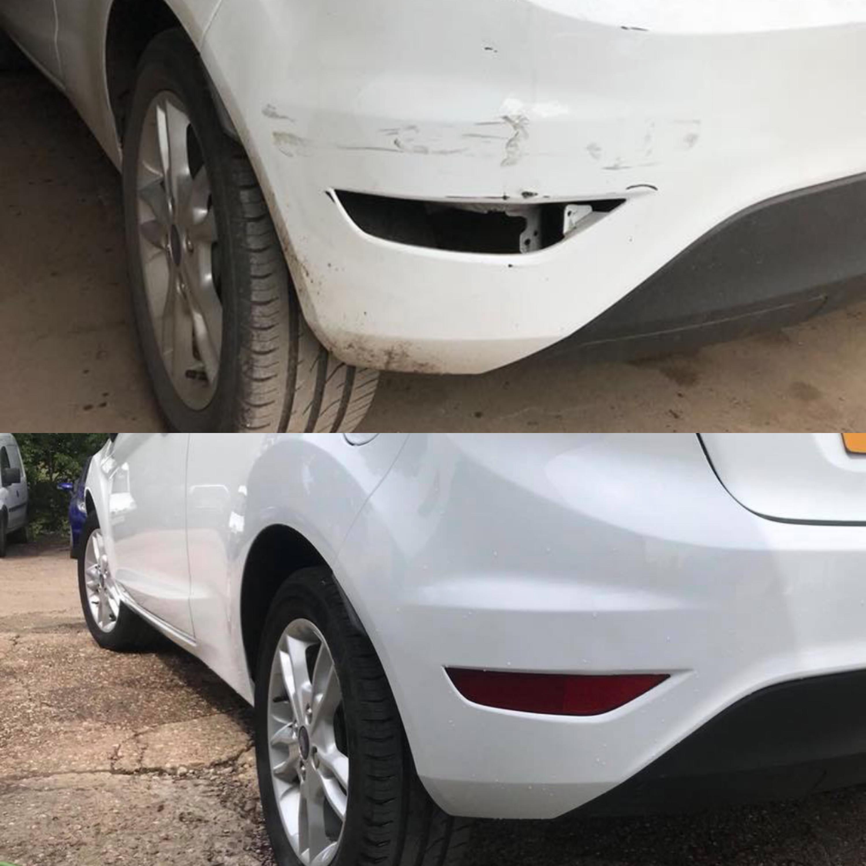 Ford Fiesta R. Bumper Scuff Repair