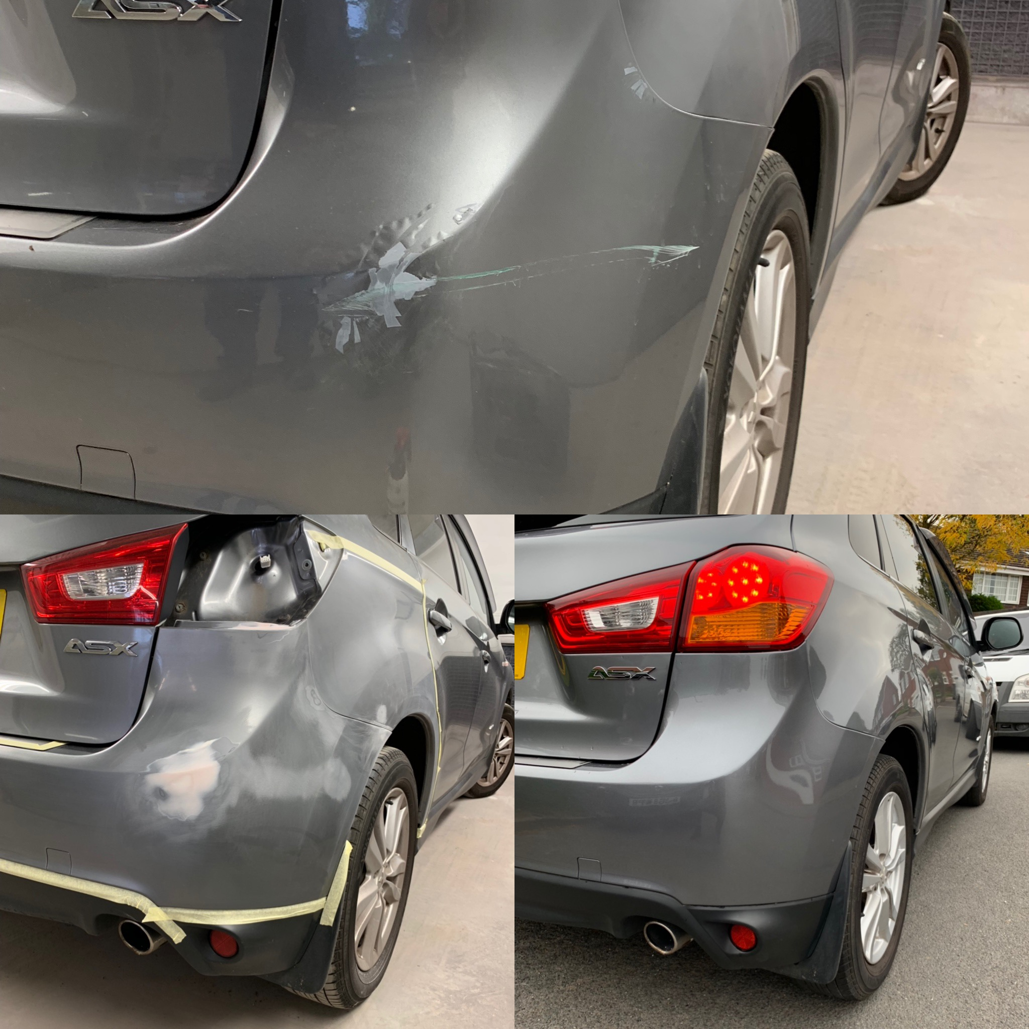 R. Bumper Scratch Repair