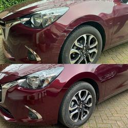 Mazda F.Bumper & Wing Scratch Repair