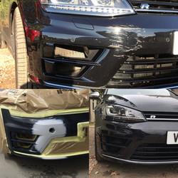 VW Golf F. Bumper Scuff Repair