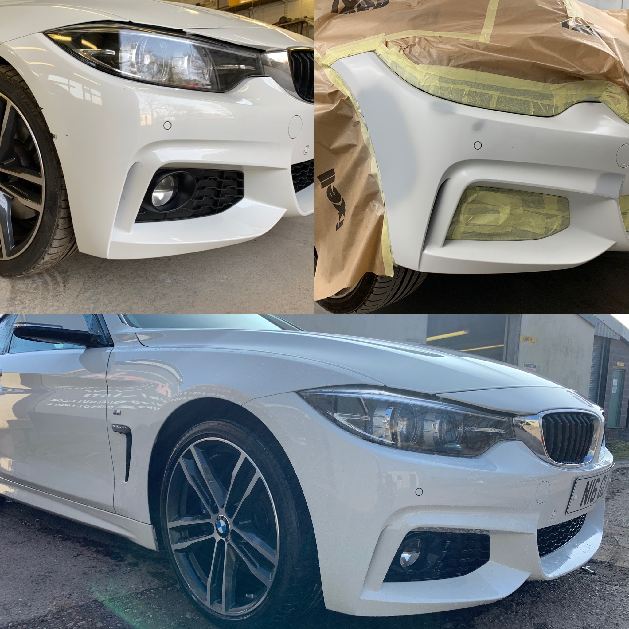 BMW 420i F. Bumper Scratch Repair