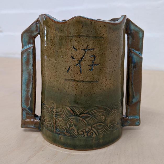 Black Iron Oxide & Emerald Glaze