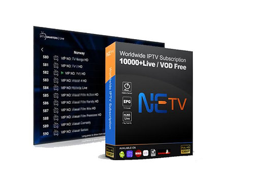 NETV IPTV control panel with 50 credits contains 10000+Live / VOD Free for IPTV