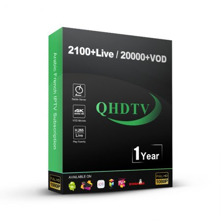 5 Codes QHDTV IPTV Account 1 year with 2100 plus channels