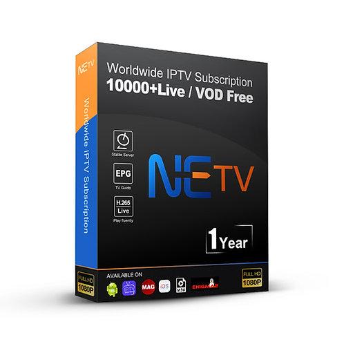 1 year NETV IPTV Channels Subscription Scandinavian Sweden,Denmark,Norway,Finlan