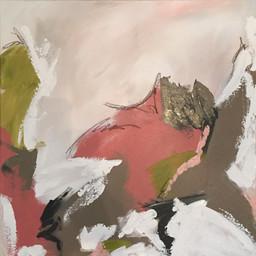 "24x24"" mixed media on canvas"