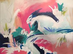 "30x40"" mixed media on canvas"