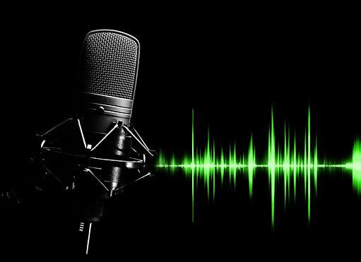 studio condenser microphone & green wave