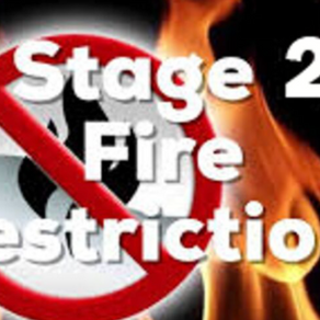 Stage Two Fire Restrictions