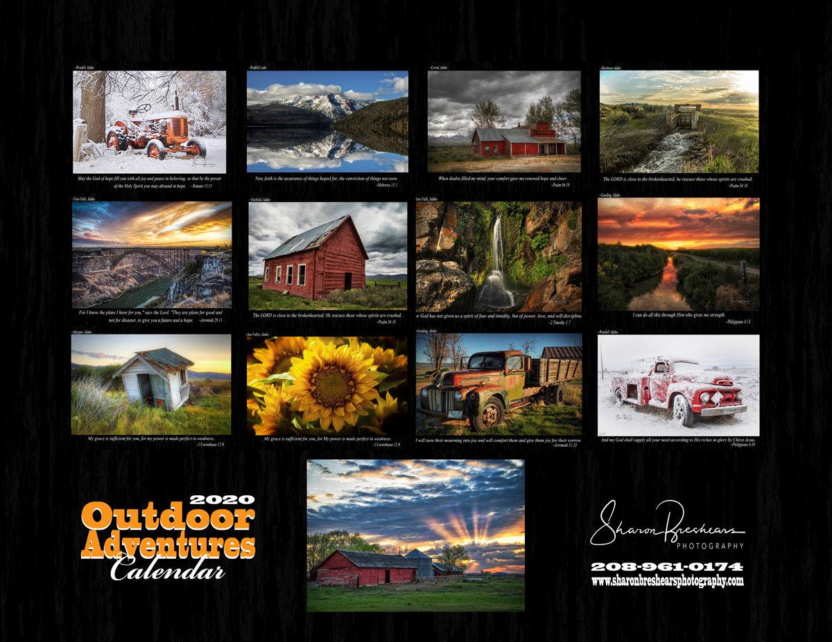 outdoor adventure calendar sharon breshears