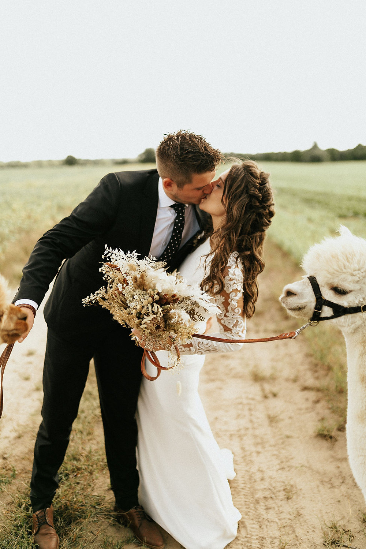 bride and groom, bride and groom inspo, pets at my wedding, bride hair ideas, bridal hair, wedding dress, llamas at a wedding, animals at weddings, wedding blog, wedding inspiration, fun wedding, wedding magazine