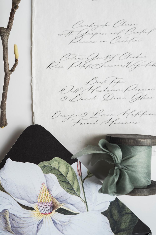 melissa nezezon, statuerue, fine art stationery, fine art wedding invitations, wedding menu, calligraphy, wedding calligrapher, fine art design, wedding branding, branding and design, small business canada, ask a wedding vendor, tale of tulle