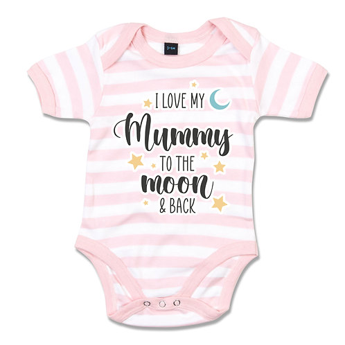 Personalised To The Moon and Back Babygrow